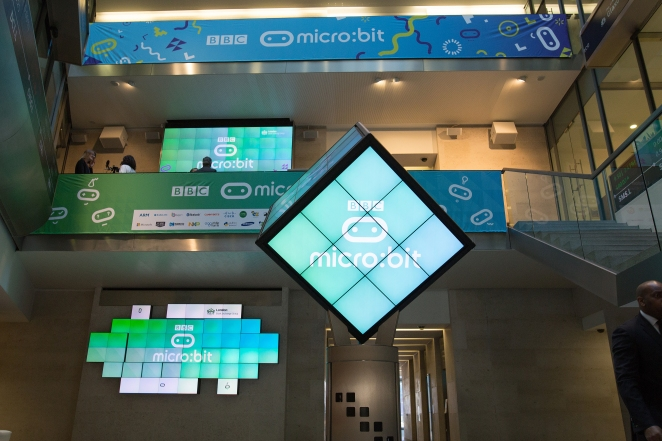 BBC micro:bit launch at the London Stock Exchange. Tuesday 22nd March.